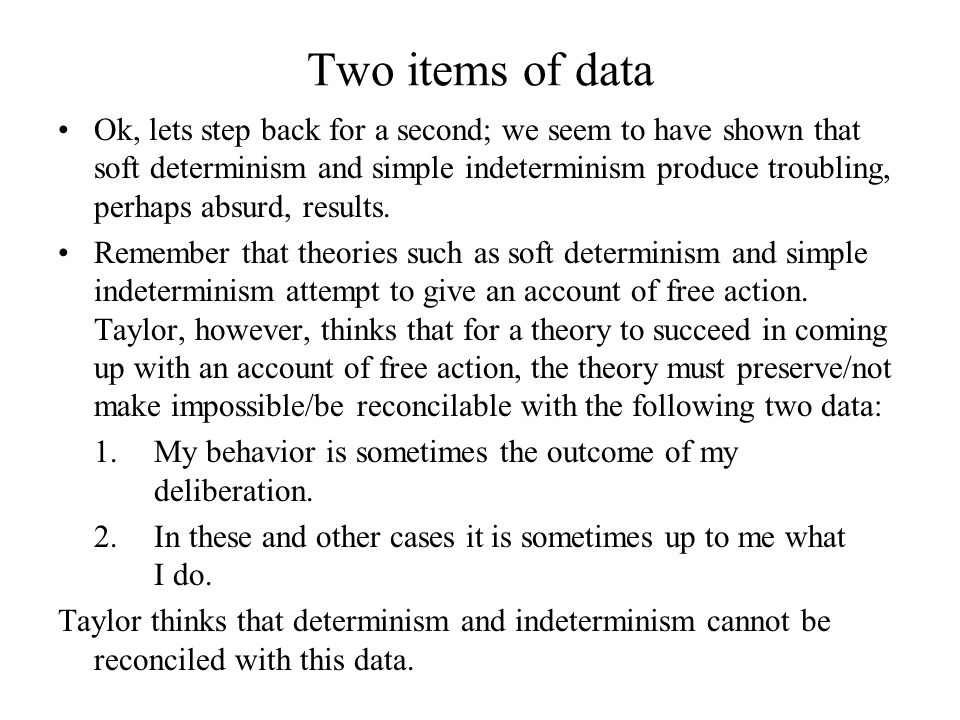 Two items of data