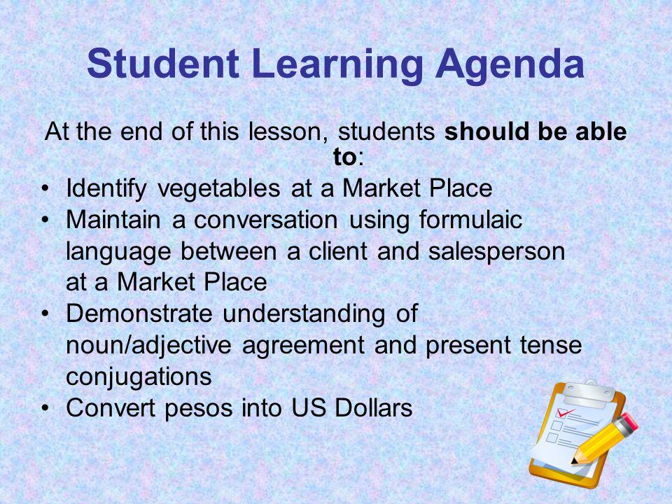 Student Learning Agenda