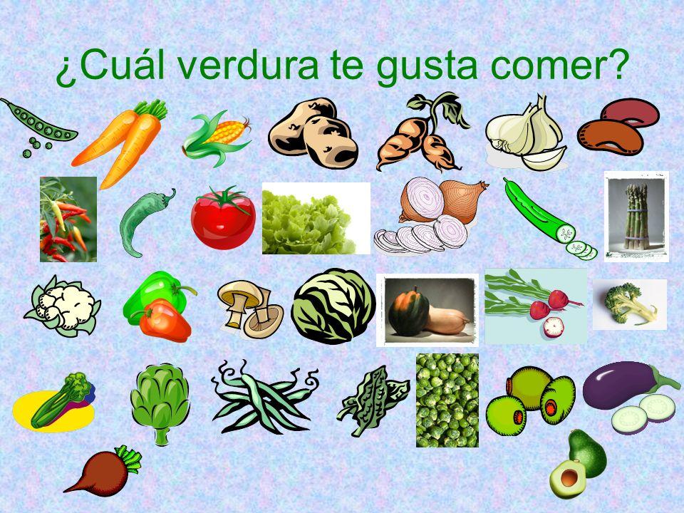 ¿Cuál verdura te gusta comer