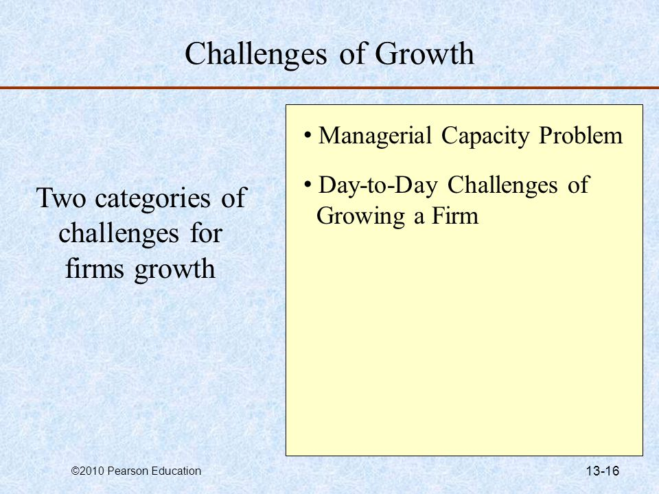 Two categories of challenges for firms growth
