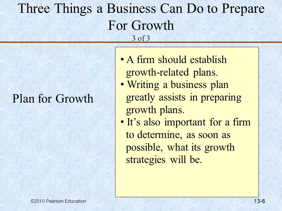 Three Things a Business Can Do to Prepare For Growth 3 of 3