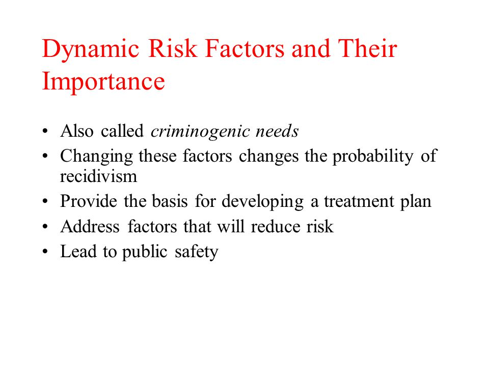 Dynamic Risk Factors and Their Importance