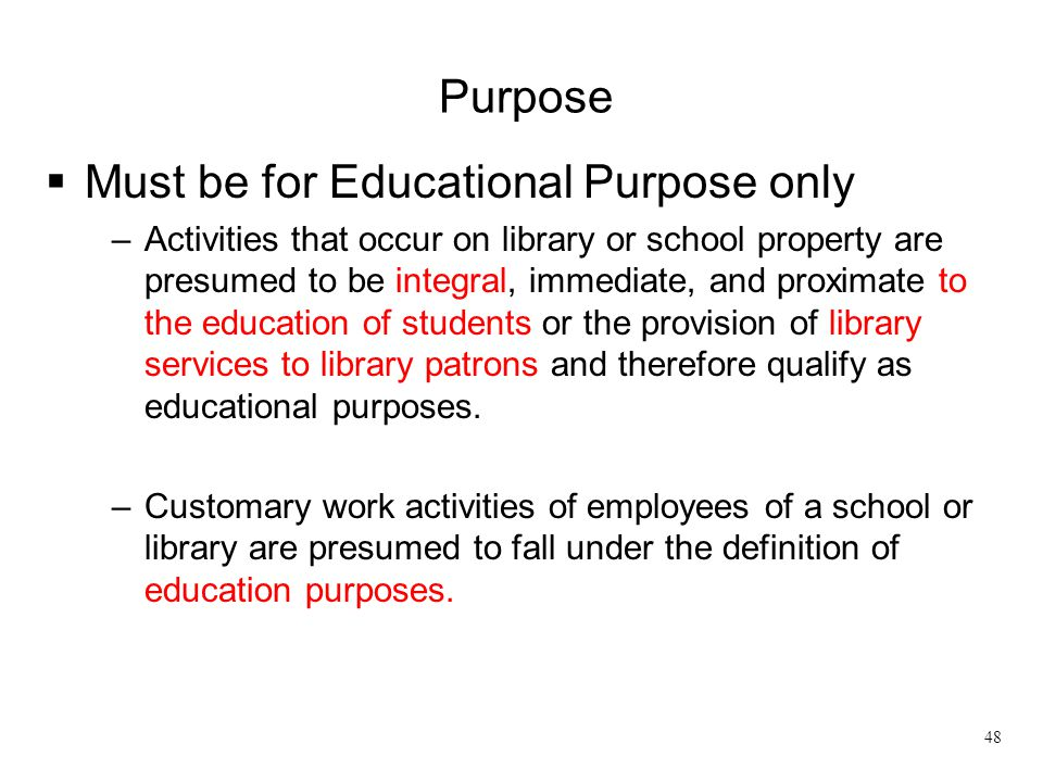 Must be for Educational Purpose only