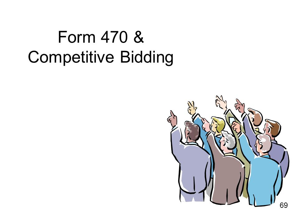 Form 470 & Competitive Bidding