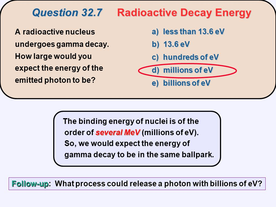 Question 32.7 Radioactive Decay Energy