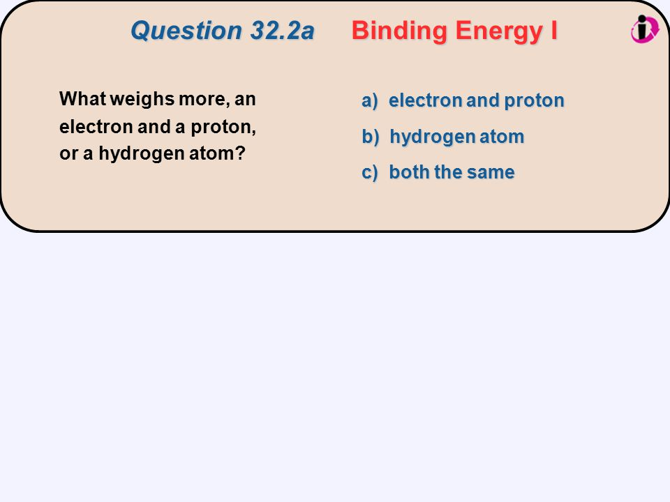 Question 32.2a Binding Energy I