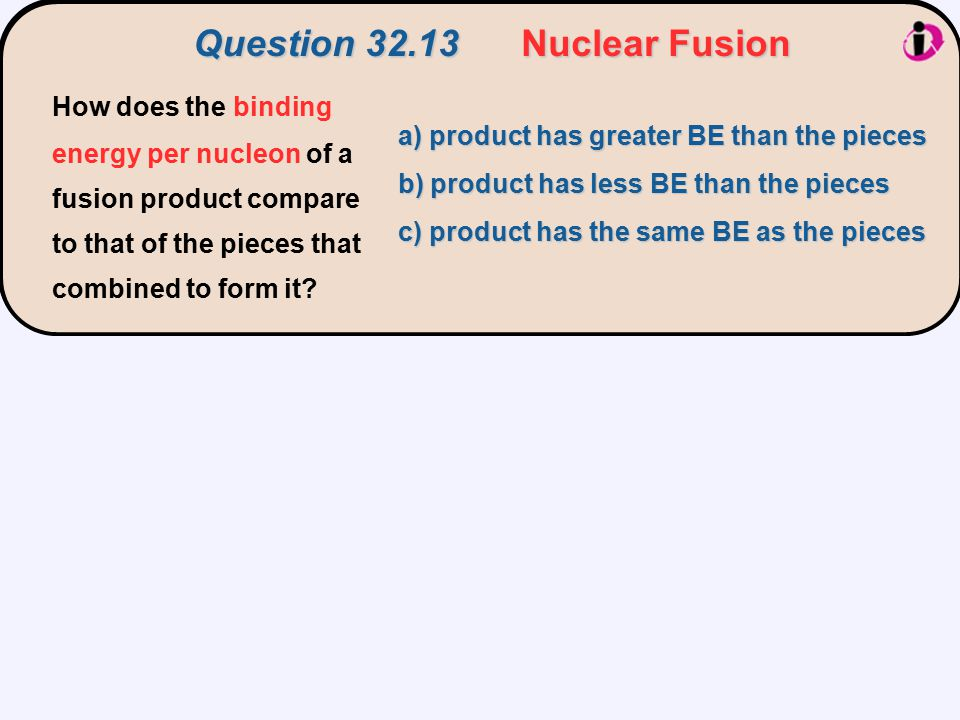 Question 32.13 Nuclear Fusion