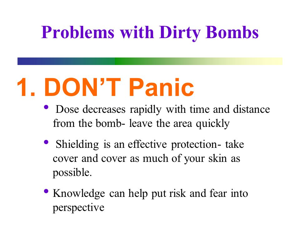 Problems with Dirty Bombs