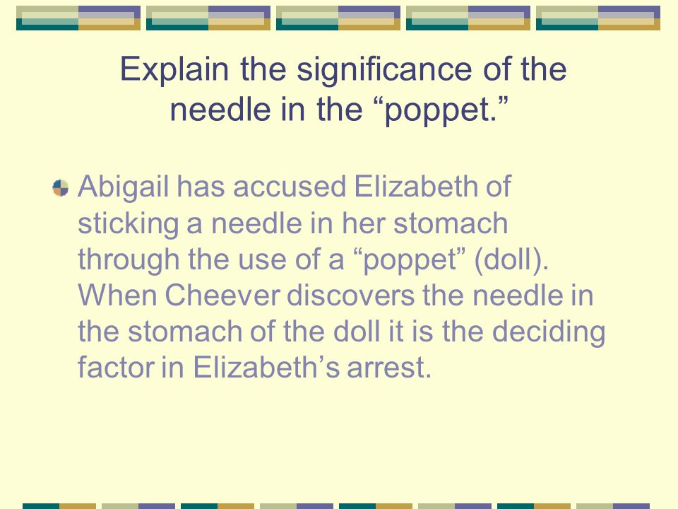 Explain the significance of the needle in the poppet.