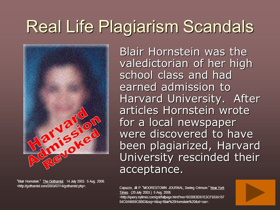 Real Life Plagiarism Scandals