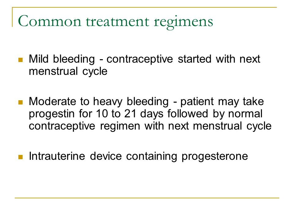 Common treatment regimens