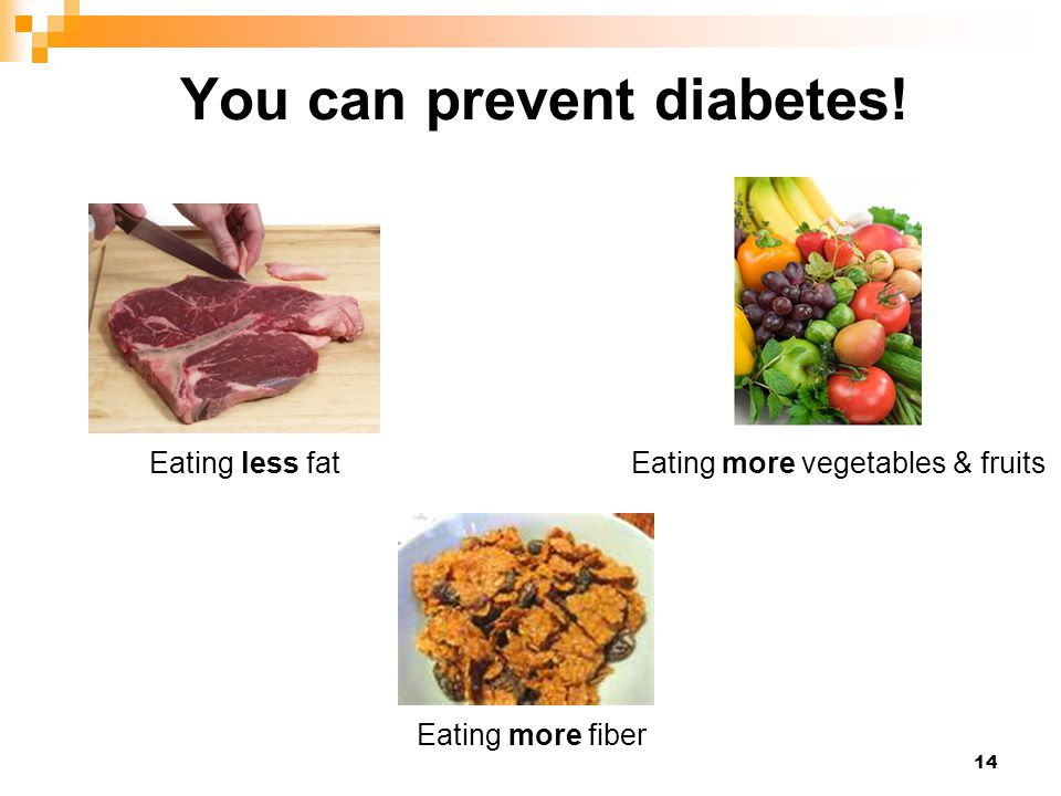 You can prevent diabetes!