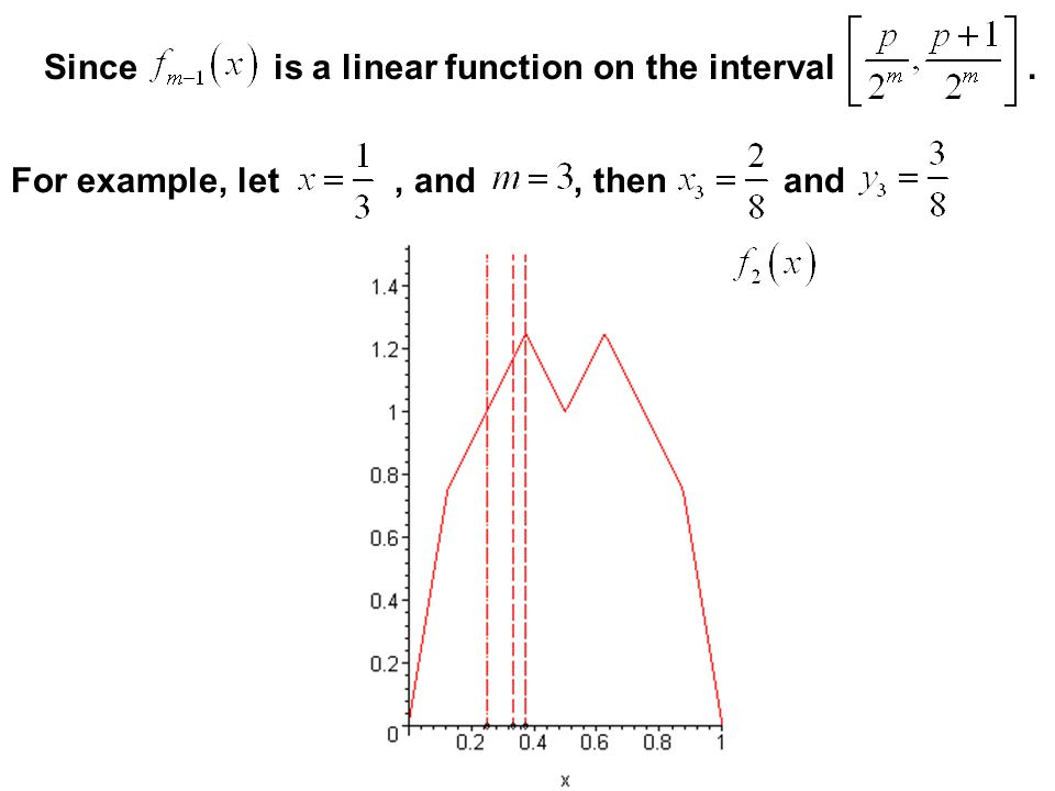 Since is a linear function on the interval .