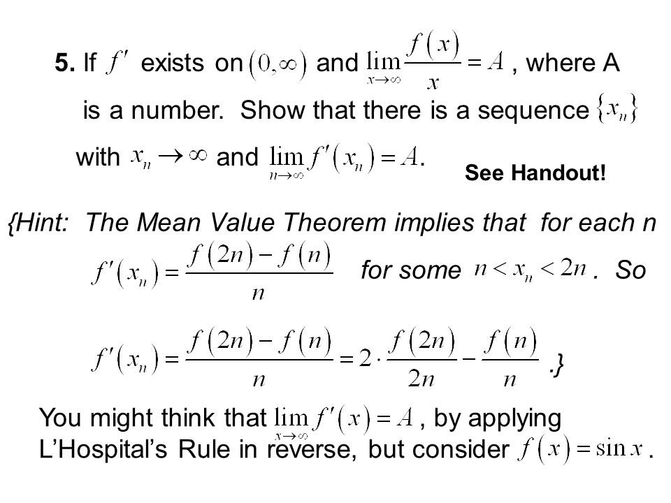 is a number. Show that there is a sequence with and .