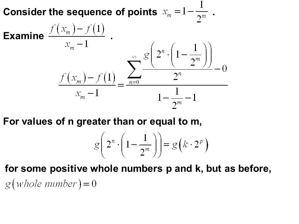 Consider the sequence of points . Examine .