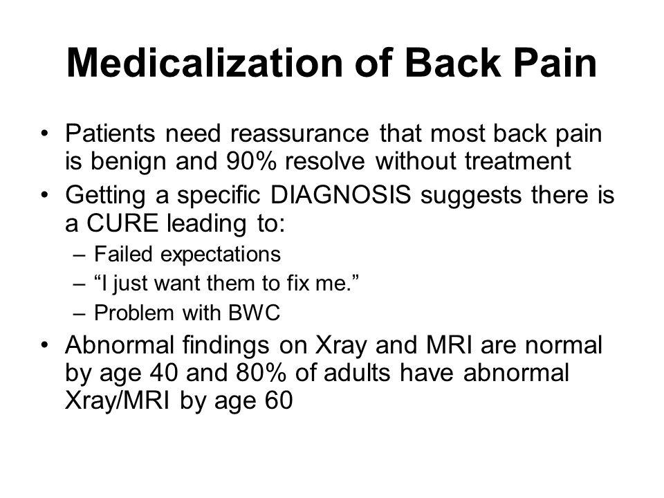 Medicalization of Back Pain