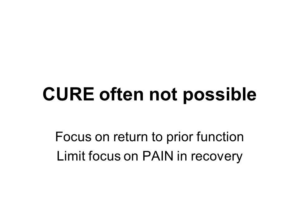 CURE often not possible
