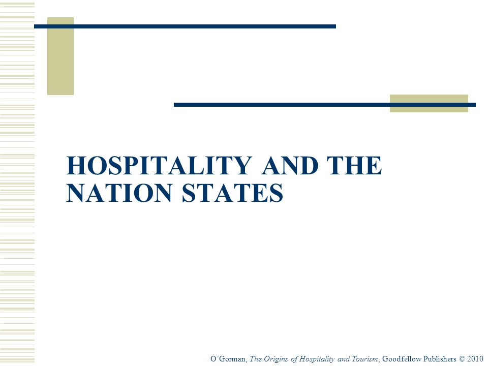 HOSPITALITY AND THE NATION STATES