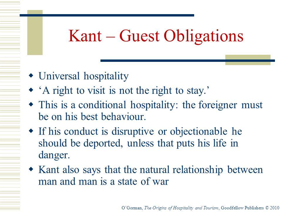 Kant – Guest Obligations