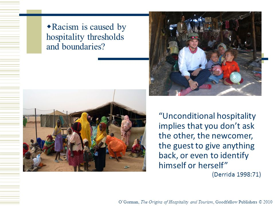 Racism is caused by hospitality thresholds and boundaries