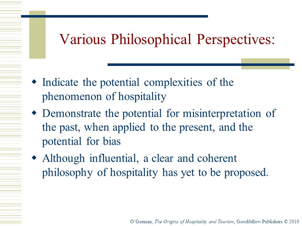Various Philosophical Perspectives: