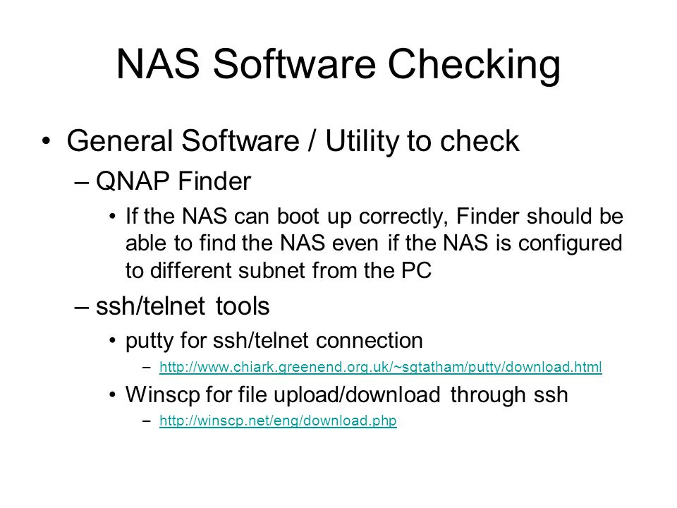NAS Software Checking General Software / Utility to check QNAP Finder