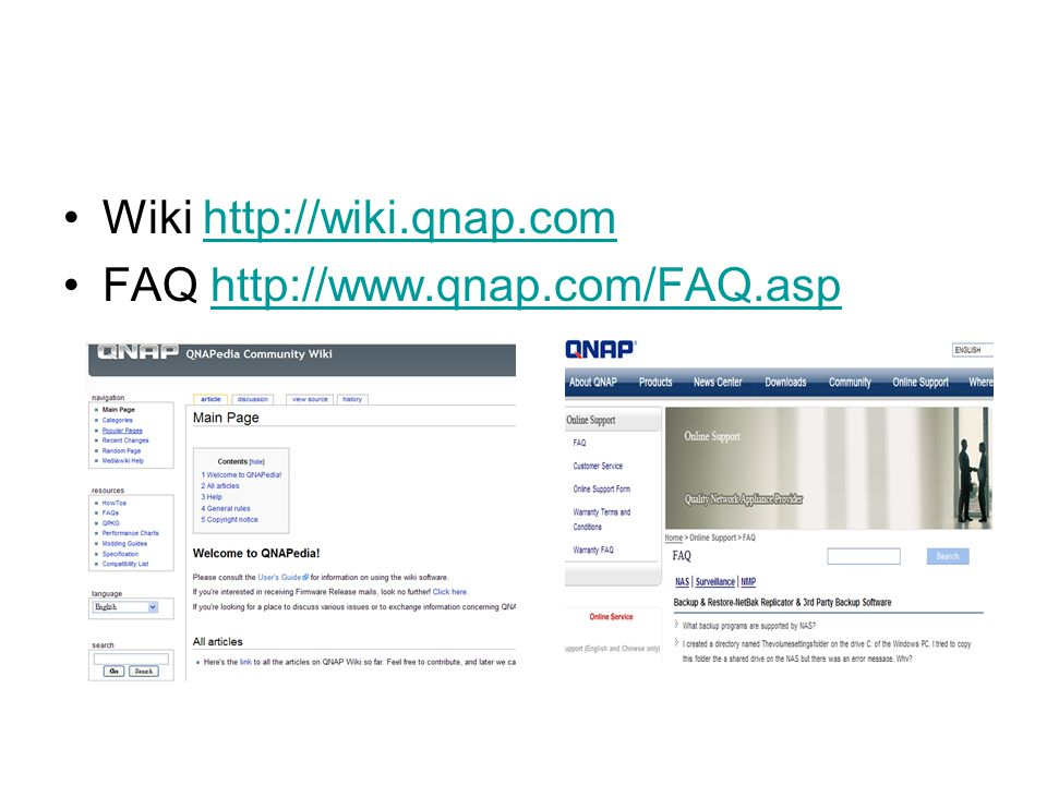 Wiki http://wiki.qnap.com
