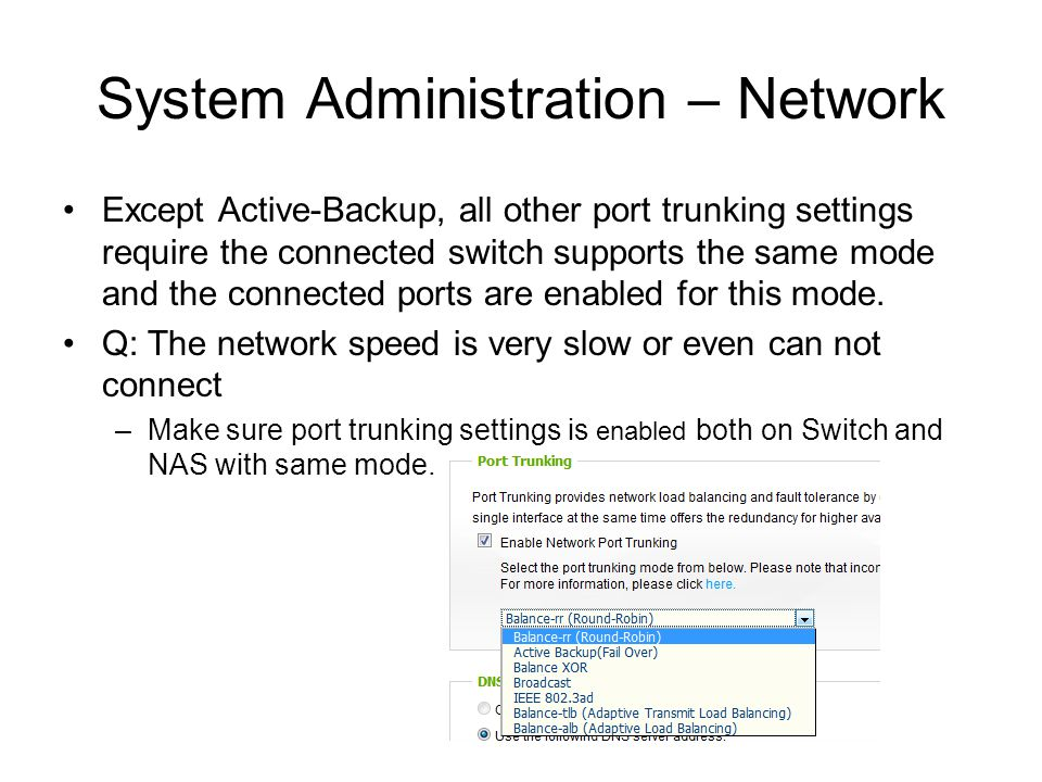 System Administration – Network