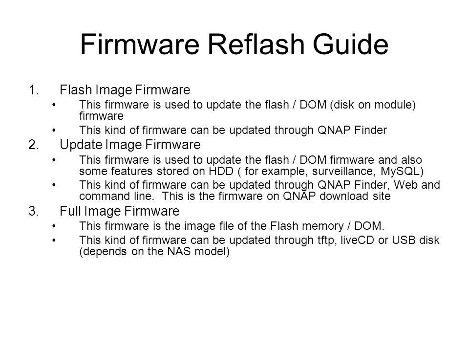 Firmware Reflash Guide