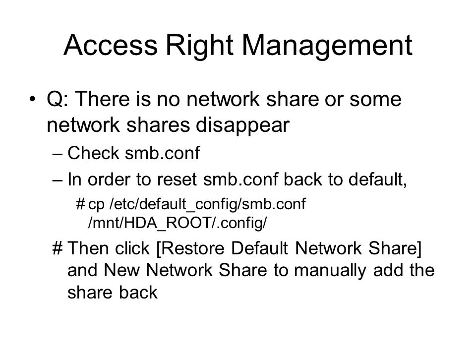 Access Right Management