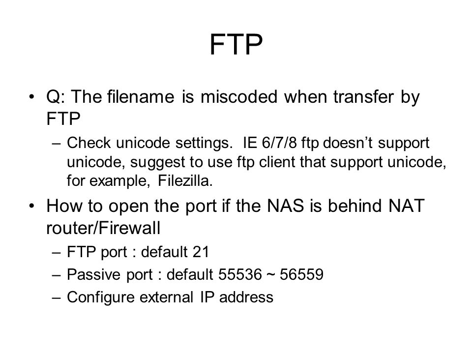 FTP Q: The filename is miscoded when transfer by FTP