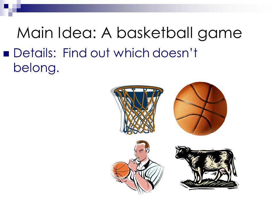 Main Idea: A basketball game