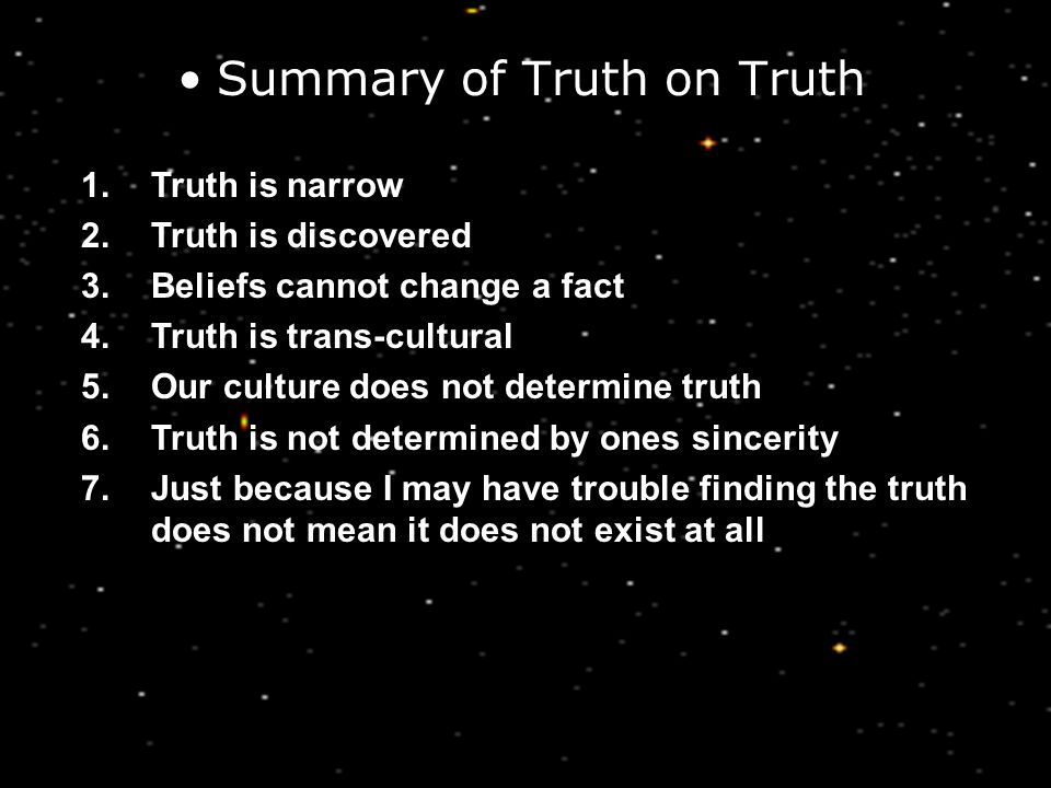 Summary of Truth on Truth