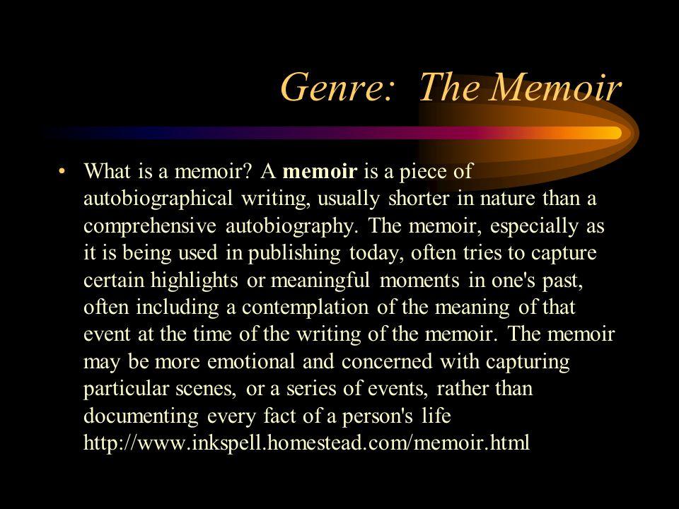 Genre: The Memoir