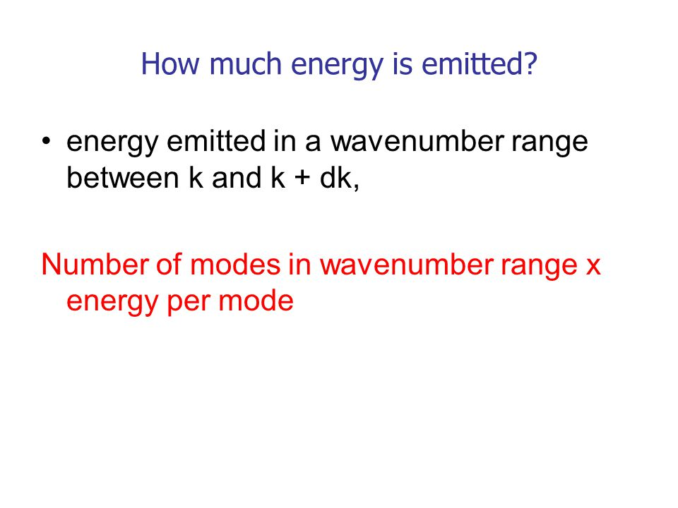 How much energy is emitted