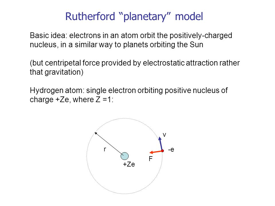 Rutherford planetary model