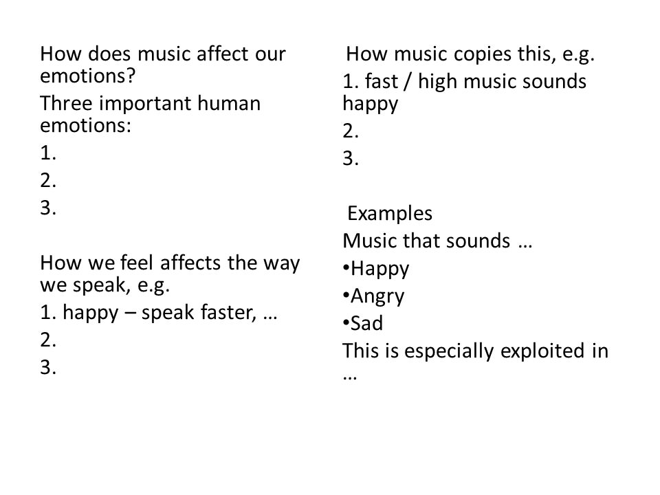 Why do we listen to music?