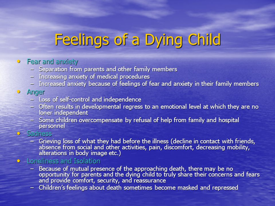 Feelings of a Dying Child