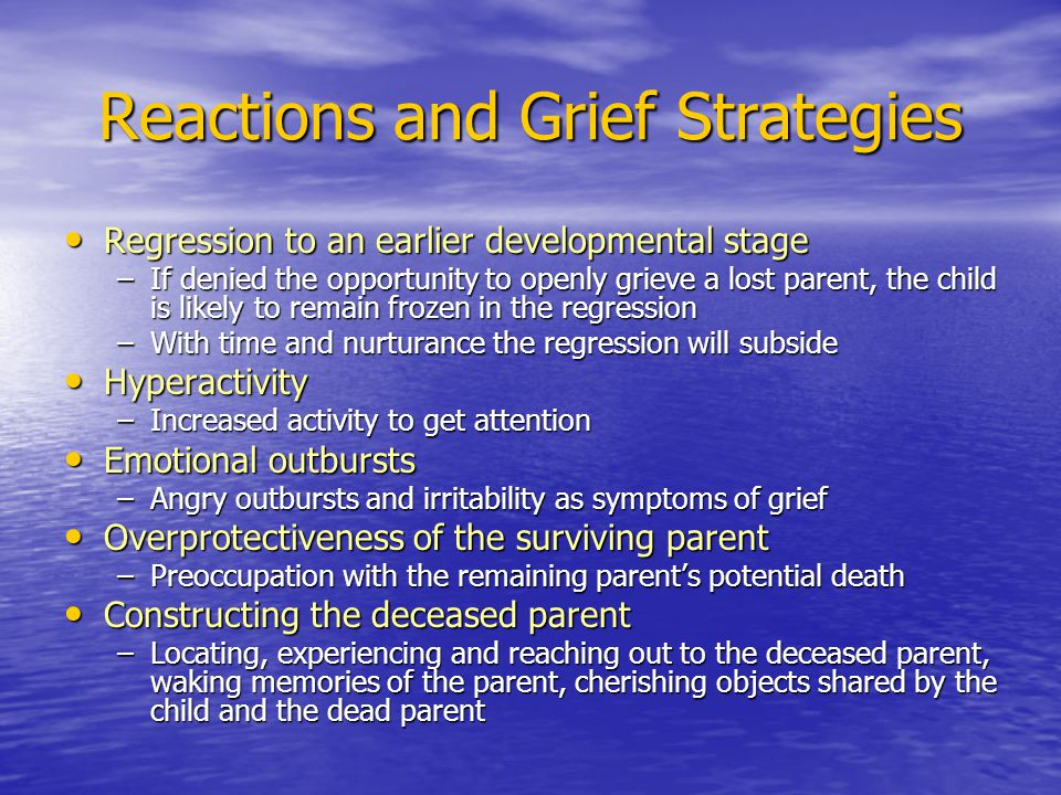 Reactions and Grief Strategies
