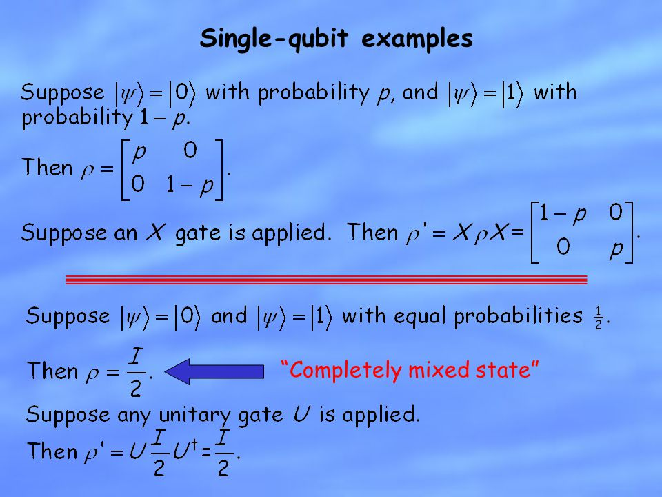 Single-qubit examples