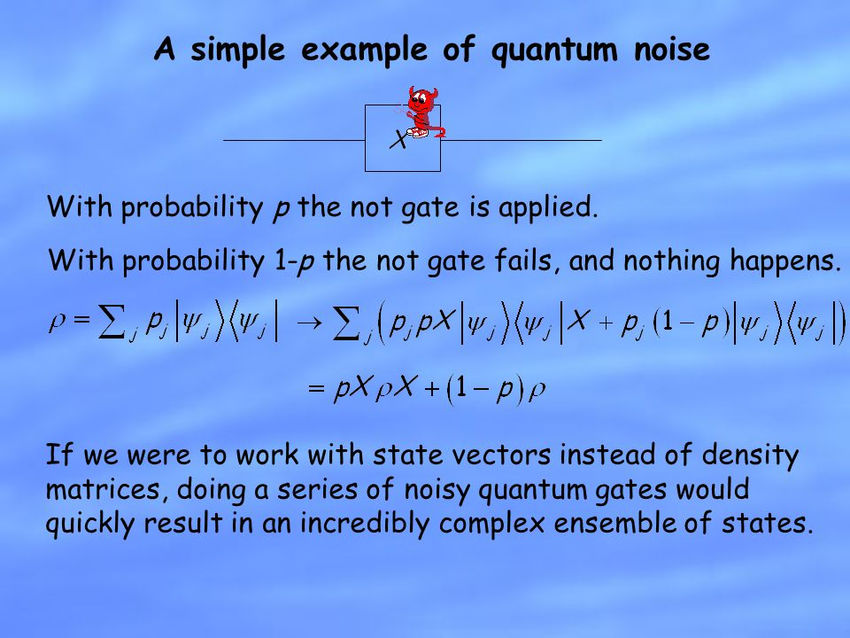A simple example of quantum noise