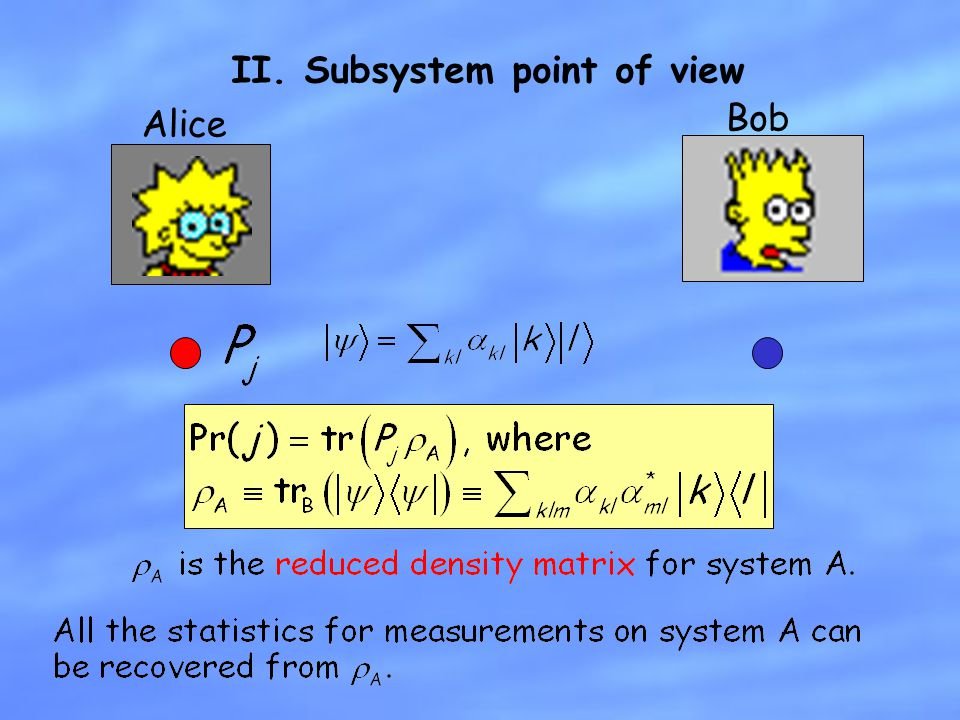 II. Subsystem point of view