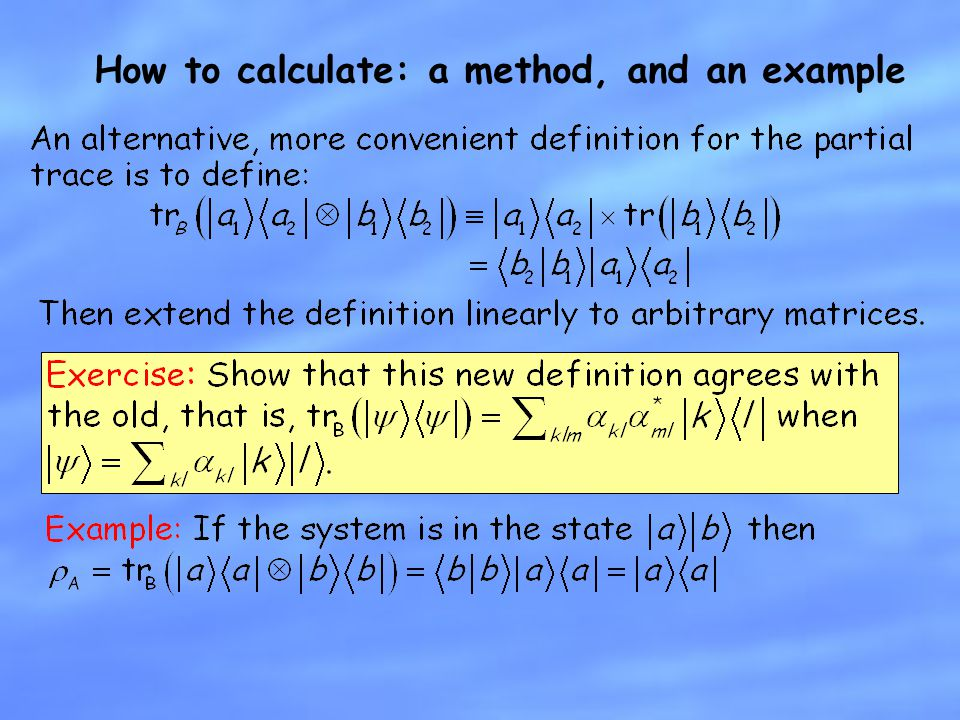 How to calculate: a method, and an example
