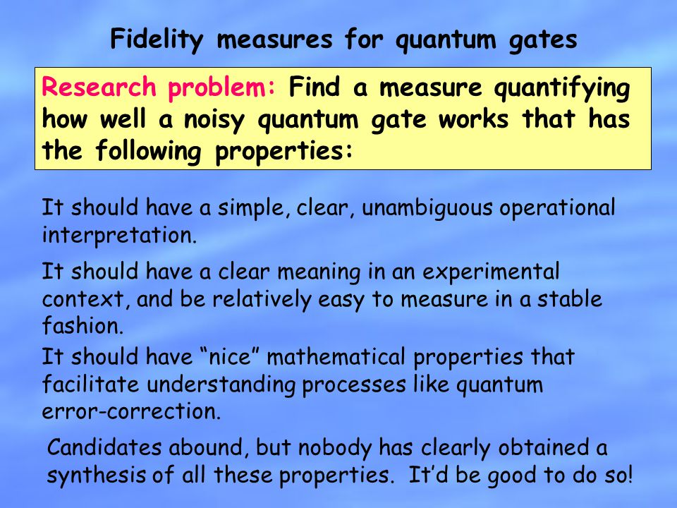 Fidelity measures for quantum gates
