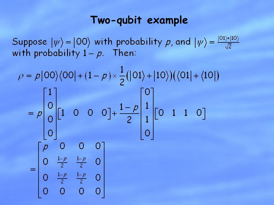 Two-qubit example