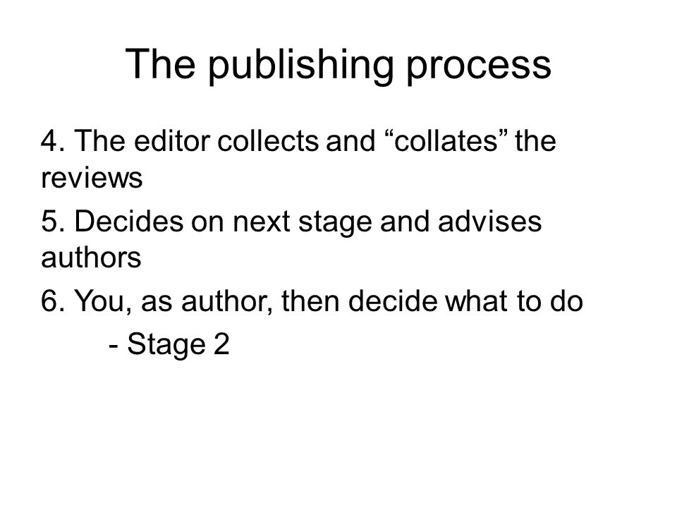 The publishing process