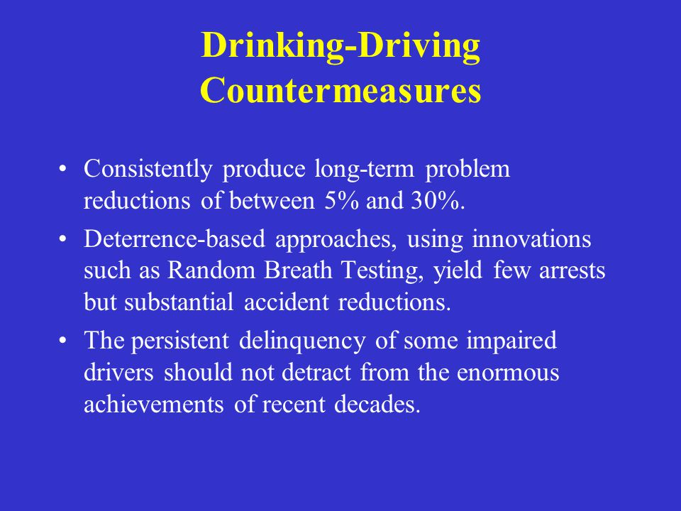 Drinking-Driving Countermeasures