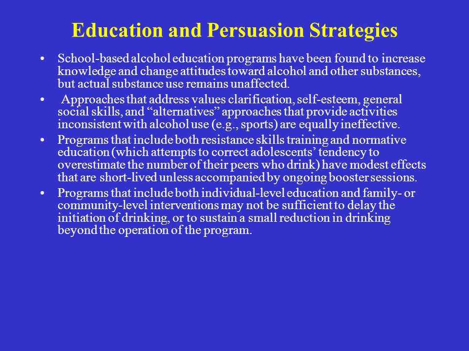 Education and Persuasion Strategies
