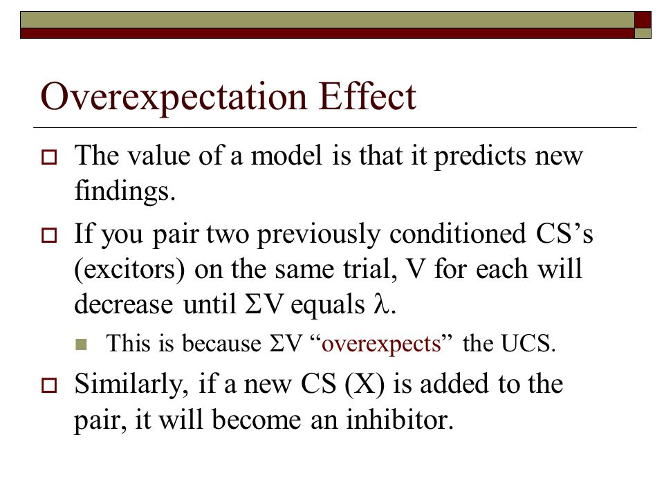 Overexpectation Effect