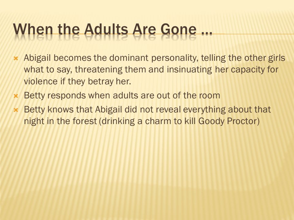 When the Adults Are Gone …